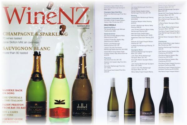 NZのワイン専門誌『Wine NZ』(2012年夏号)に掲載されました。
